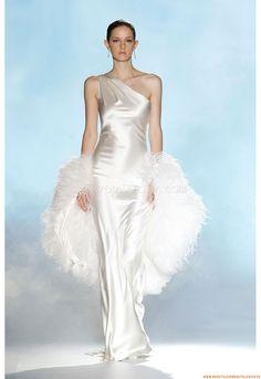 Einschulter Mollig Elegante Brautkleider 2014 aus Taft
