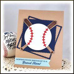 Creating Somewhere Under The Sun: Baseball Player Birthday Card #baseballbirthdaycard, #baseball