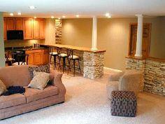 gorgeous finished basement