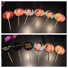 F•R•I•E•N•D•S theme birthday party; DIY CUPCAKE TOPPERS