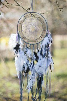 White Dream Catcher Large Dream catcher by MysteriousForests