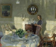 Amy Katherine Browning-love the play of sunlight and shadows in the room