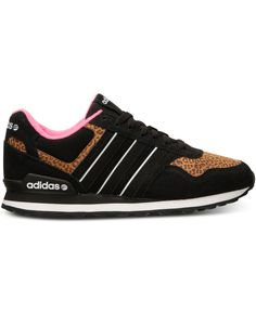 Pink and cheetah print? Now that's wild style! adidas RunNEO sneakers