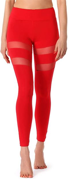 Positiv überrascht - würde ich wieder kaufen  Bekleidung, Damen, Streetwear, Strumpfhosen & Leggings Mode Des Leggings, Fitness Hose, Streetwear, Leggings Fashion, Capri Pants, Style, Leggings Style, Red, Sports