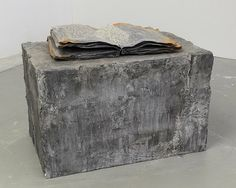 Anselm Kiefer (Lead, cardboard, salt and wood, clay, oil, emulsion, acrylic, shellac pedestal)