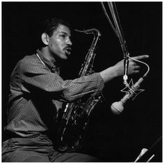 Hard bop tenor saxophonist and composer Harold 'Tina' Brooks: June 1932 – Francis Wolff: Harold 'Tina' Brooks during the recording session that was eventually released as The Waiting Game, Englewood Cliffs NJ March 2 1961 Jazz Artists, Jazz Musicians, Music Artists, Jackie Mclean, Francis Wolff, Paul Chambers, Jazz Cat, Hard Bop, Tenor Sax