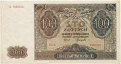 100 Zlotych 1941 (Ansicht von Lemberg) Polen Generalgouvernement (Polen unter deutscher Besetzung)