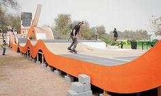 Skateboard park at Tashkeel, Dubai