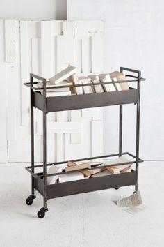Bar/book cart.