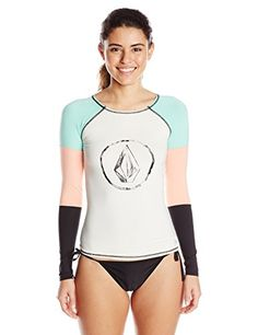 Volcom Women's Color Block Long Sleeve Rash Guard, White, Small Volcom http://www.amazon.com/dp/B00SY3A3XE/ref=cm_sw_r_pi_dp_7A0Xwb13GJ2XM