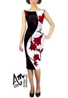 Vintage Floral Pencil Dress by Amber Middaugh --- Save 37% at ChicStar.com --Coupon: AMBER37