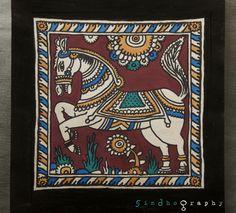 Kalamkari art on paper