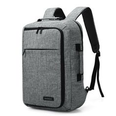 dbecf83aa0e9 Unisex 15.6 Laptop Backpack Convertible Briefcase 2-in-1 Business Travel  Luggage Carrier