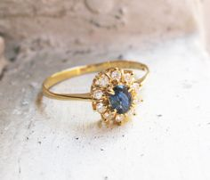 Vintage Sapphire and Diamonds Engagement by RosenrosettAntiques, $259.00