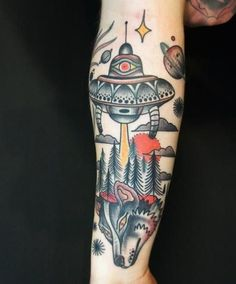 tatuagem-disco-voador-floresta-lobo-478x576.jpg (478×576)