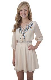 Believe in Boho Dress in Cream