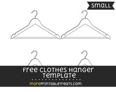 Free Clothes Hanger Template - Medium | Shapes and Templates ...