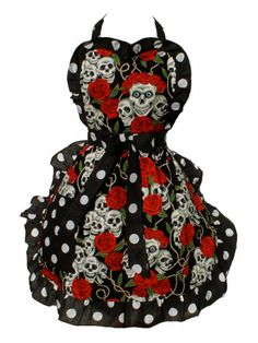 Hemet Skulls And Roses Full Apron