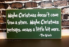 LOVE this Grinch Christmas Sign via @HautalaCouture on Etsy!