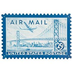 Retro Air Mail San Fran Custom Metal Shape Sign 24 x 15 Inches 1940s Decor, Office Stamps, Vintage Metal Signs, Office Wall Decor, Custom Metal, Stamp Collecting, Metal Stamping, Postage Stamps, Shapes