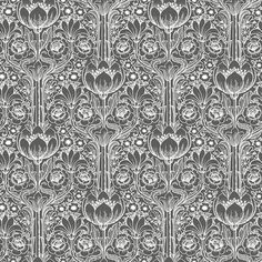 Eco Wallpaper Rosegarden Black & White Wallpaper main image