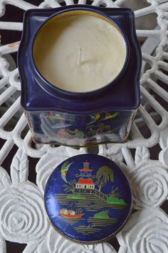 11 oz Lemongrass Soy Candle  in a Vintage Chinoiserie Tea Tin by TroppoBella on Etsy, $48.00