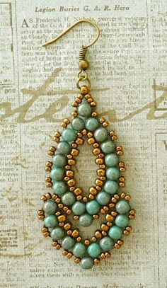 Linda's Crafty Inspirations: Esmeralda Earrings - More samples