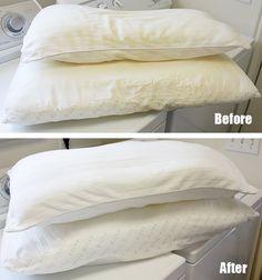 ¿Cómo lavar almohadas y que queden blancas?