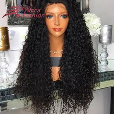 150 Density Loose Deep Curly Full Lace Wig Virgin Brazilian Thick Human Hair Full Density Glueless Lace Front Wigs Black Women