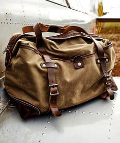 d5a3ca100e Canvas weekender Canvas Leather