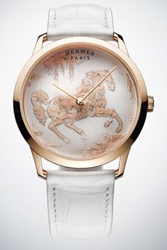Hermès - Slim D'Hermès Cheval Ikat - Trends and style - WorldTempus Luxury Watches, Rolex Watches, Watches For Men, Hermes Watch, Most Popular Watches, Amazing Watches, Expensive Watches, Watch Brands, Ikat