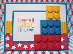 Stampin with Pat, Stampin Up Demonstrator: Lego Birthday Card#Repin By:Pinterest++ for iPad#