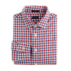 A pint-size version of Dad's shirt in our classic 120s two-ply cotton with a tailored fit. <ul><li>120s two-ply cotton.</li><li>Chest pocket.</li><li>Machine wash.</li><li>Import.</li></ul>