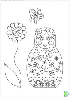 Matryoshka Dolls Coloring Pages | Boo The Dog 2015