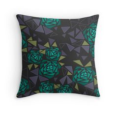 Geometric pattern . Crystals .Roses . 2