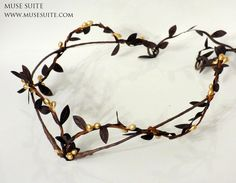 Unixes Forest crown gold branches. Woodland tiara. by MuseSuite