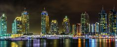 Marina's Night Colours by Mohammed Shamaa on 500px
