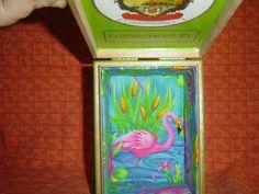 HomeMade FLAMINGO Gran Habano CIGAR Box PURSE by LONLAR803 on Etsy, $50.00