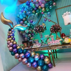 WEIGAO Little Mermaid Party Supplies Mermaid Tail Balloons Arch set Decoration Mermaid Birthday Party Favors Girl Birthday Party Mermaid Theme Birthday, Little Mermaid Birthday, Little Mermaid Parties, Birthday Party Themes, Girl Birthday, Birthday Ideas, Mermaid Baby Showers, Party Time, Party Supplies