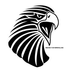 Eagle clip art vector.