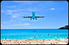 Maho Beach, St Maartens. One of the most exciting beaches anywhere.