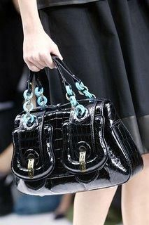 The most expensive handbag on the list is the black crocodile Fendi B bag with a price tag of only $27,700.