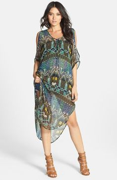 62585a332a7 ASTR Lace-Up Oversized Shift Dress available at  Nordstrom