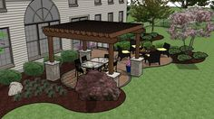 simple patio ideas with fire pit - Google Search