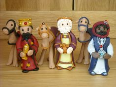Polymer Clay Three Wise Men Figurines