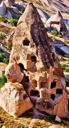 The interesting architecture of Cappadocia, Turkey. The region has a wealth of historical and quirky places to visit. Places Around The World, Oh The Places You'll Go, Places To Travel, Places To Visit, Around The Worlds, Cultural Architecture, Ancient Architecture, Wonderful Places, Beautiful Places