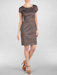 Fein schimmerndes Kleid mit Tupfen-Print
