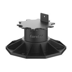 Eurotec Deck Support Plastic Adjustable Pedestal ECO L - / - The Home Depot - Conscious consumption Building A Floating Deck, Building A Porch, Floating Deck Plans, Building Stairs, Steel Roof Panels, Deck Footings, Ground Level Deck, Deck Storage, Storage Shelves