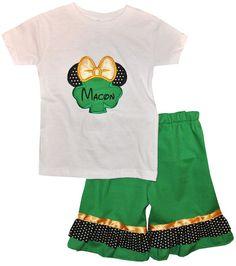 DISNEY MINNIE MOUSE St Patrick's Day Shamrock by ChildrensCottage, $26.00