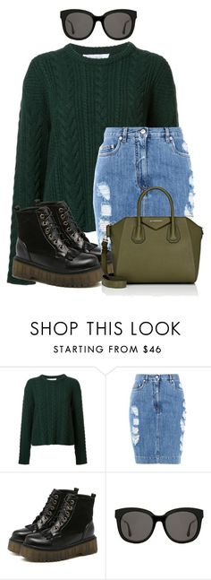 """Untitled #1467"" by loveyourselfiee ❤ liked on Polyvore featuring Ryan Roche, Moschino, Gentle Monster and Givenchy"